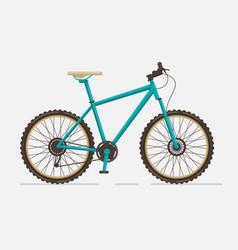 mountain bike on white background vector image