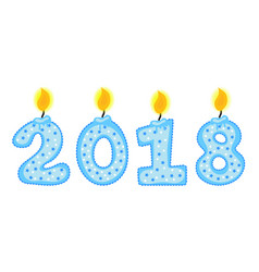 new year 2018 figures numbers of candles vector image