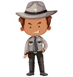 Sheriff in gray uniform vector image vector image
