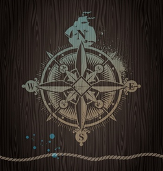 vintage compass rose vector image vector image