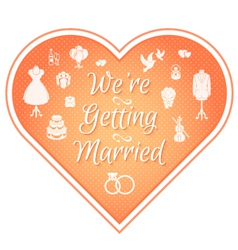 Wedding Invitation Badge Pink vector image vector image