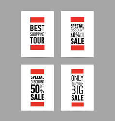 different sale flyers posters with big discount vector image