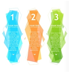 Speech templates for text 1 2 3 vector image