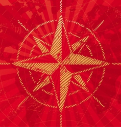 travel background with compass rose vector image vector image