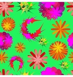 unusual flowers vector image