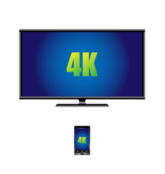4k widescreen tv lcd display and remote control vector