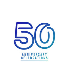50 years anniversary celebration number text vector