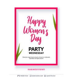8 of march women day card or banner template vector