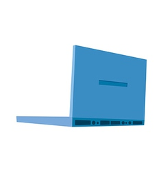 A laptop is placed vector image