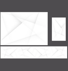 abstract gray polygonal corporate background set vector image