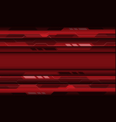 abstract red grey cyber geometric technology vector image