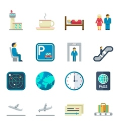 Airport flat icons vector