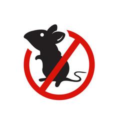Anti mouse parasite no rat no pest logo design vector