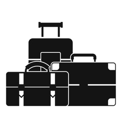Baggage icon simple style vector