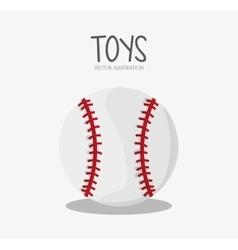 Ball of baseball sport design vector