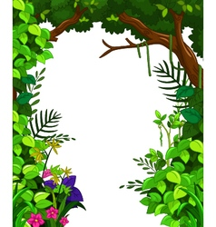 Beauty green forest vector