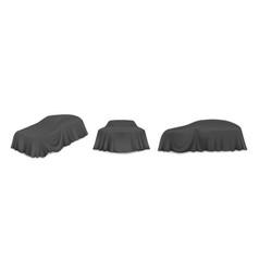 Black car reveal curtain isolated vector