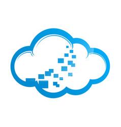 blue cloud symbol big data cloud logobig cloud vector image
