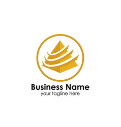 business pyramid logo design template business vector image