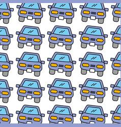 Car front repair service garage seamless pattern vector