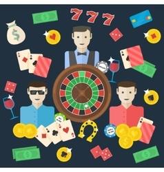 Casino flat vector image