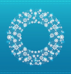 Christmas round frame vector