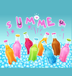 color drinks summer vector image