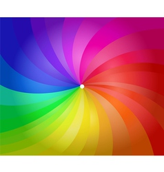 Colorful spiral stripes vector image