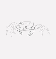 crab icon line element of vector image