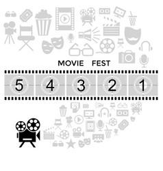 Digital black cinema vector