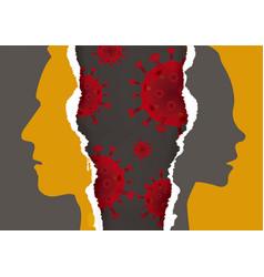 divorced couplequarantine as test relationship vector image