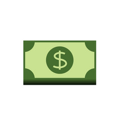 dollar banknotes flat icon vector image