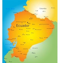 Ecuador vector image
