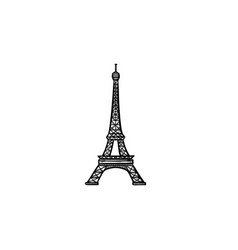 eiffel tower hand drawn outline doodle icon vector image