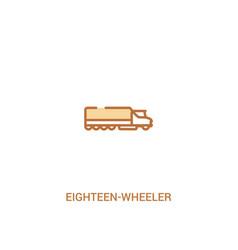 Eighteen-wheeler concept 2 colored icon simple vector