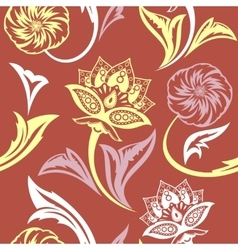 Ethnic Floral Seamless Pattern9 vector image