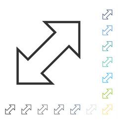 Exchange diagonal icon vector