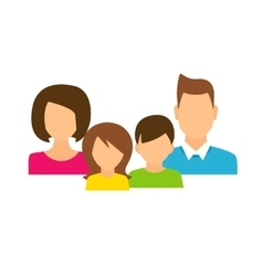 Family members avatars in flat style vector