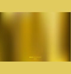 Gold gradient metal background brushed metallic vector