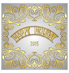 Happy holiday greeting card vector
