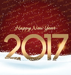 Happy new year snowy background 0410 vector