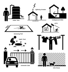 Home house outdoor structure infrastructure and vector