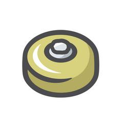 land mine military icon cartoon vector image