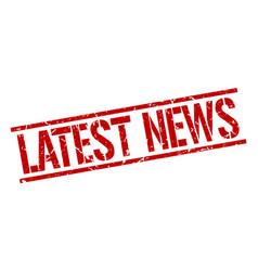 Latest news stamp vector