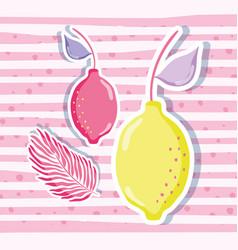 Lemons punchy pastel vector