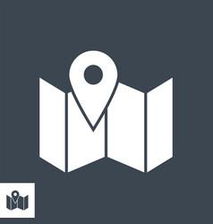Local seo glyph icon vector