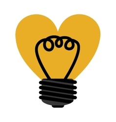 Love bulb light vector