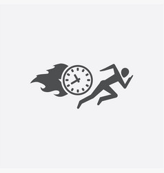 man running time icon vector image