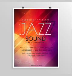 music sound party flyer invitation template vector image