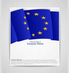 National flag brochure european nation vector